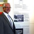 Udo Radzei, 1. Vorsitzender des Förderkreises Theodor-Zink-Museum präsentierte den Förderkreis bei der Ausstellungseröffnung. Drei Tafeln geben in Wort und Bild einen Überblick über den gemeinnützigen Verein.
